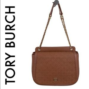 TORY BURCH BROWN SHOULDER / CROSSBODY BAG ROOMY